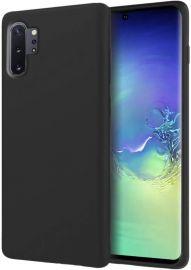 "Juodas silikoninis dėklas Samsung Galaxy A105 A10 ""Liquid Silicone"" 2.0mm"