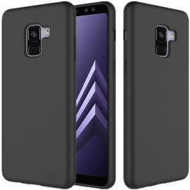 """Juodas silikoninis dėklas Samsung Galaxy A530 A8 2018 """"Silicone cover"""""""