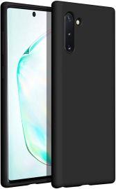 """Juodas silikoninis dėklas Samsung Galaxy N970 Note 10 """"Liquid Silicone"""" 2.0mm"""
