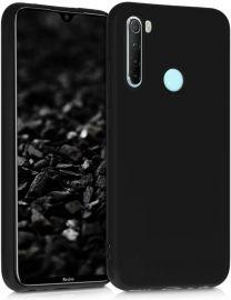"""Juodas silikoninis dėklas Xiaomi Redmi Note 8 """"Liquid Silicone"""" 2.0mm"""