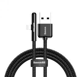 Juodas USB kabelis Baseus Mobile Game Lightning 2.4A 1m ,CAL7C-A01