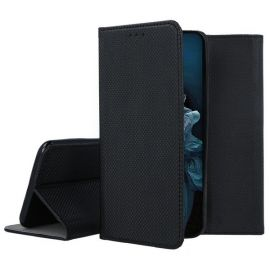 """Juodos spalvos atverčiamas dėklas Huawei Nova 5T / Honor 20 """"Smart Magnet"""""""