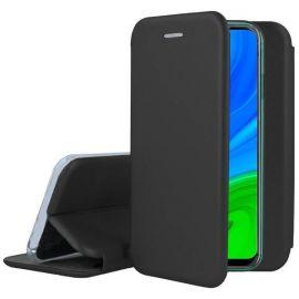 """Juodos spalvos atverčiamas dėklas Huawei P Smart 2020 """"Book Elegance"""""""