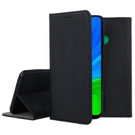 """Juodos spalvos atverčiamas dėklas Huawei P Smart 2020 """"Smart Magnet"""""""