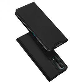 """Juodos spalvos atverčiamas dėklas Huawei P Smart 2021 / Y7a / Honor 10X Lite """"Dux Ducis Skin Pro"""""""