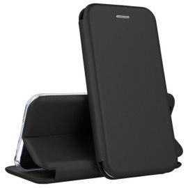 """Juodos spalvos atverčiamas dėklas Huawei P Smart """"Book Elegance"""""""