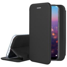 """Juodos spalvos atverčiamas dėklas Huawei P20 """"Book Elegance"""""""