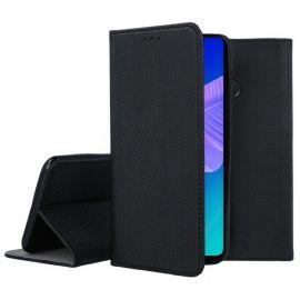 """Juodos spalvos atverčiamas dėklas Huawei P40 Lite E / Y7 P """"Smart Magnet"""""""