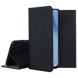 """Juodos spalvos atverčiamas dėklas Huawei P40 Lite """"Smart Magnet"""""""
