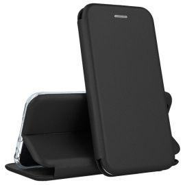 """Juodos spalvos atverčiamas dėklas Huawei P8 Lite 2017 / P9 Lite 2017 """"Book Elegance"""""""