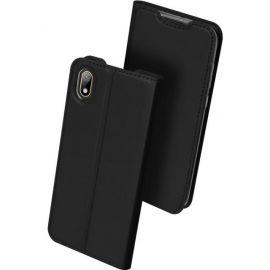 """Juodos spalvos atverčiamas dėklas Huawei Y5 2019 """"Dux Ducis Skin Pro"""""""