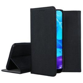 """Juodos spalvos atverčiamas dėklas Huawei Y5 2019 """"Smart Magnet"""""""
