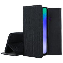 """Juodos spalvos atverčiamas dėklas Huawei Y6P """"Smart Magnet"""""""