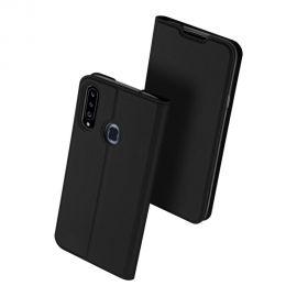 """Juodos spalvos atverčiamas dėklas Samsung Galaxy A20s """"Dux Ducis Skin Pro"""""""