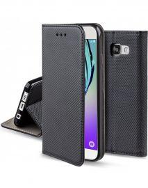 """Juodos spalvos atverčiamas dėklas Samsung Galaxy A310 A3 2016 """"Smart Magnet"""""""