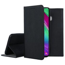 """Juodos spalvos atverčiamas dėklas Samsung Galaxy A405 A40 """"Smart Magnet"""""""