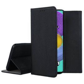 """Juodos spalvos atverčiamas dėklas Samsung Galaxy A51 5G """"Smart Magnet"""""""