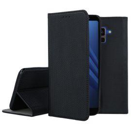 """Juodos spalvos atverčiamas dėklas Samsung Galaxy A530 A8 2018 """"Smart Magnet"""""""