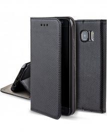 """Juodos spalvos atverčiamas dėklas Samsung Galaxy G925 S6 Edge """"Smart Magnet"""""""