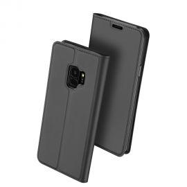 """Juodos spalvos atverčiamas dėklas Samsung Galaxy G960 S9 """"Dux Ducis Skin Pro"""""""