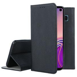 """Juodos spalvos atverčiamas dėklas Samsung Galaxy G973 S10 """"Smart Magnet"""""""
