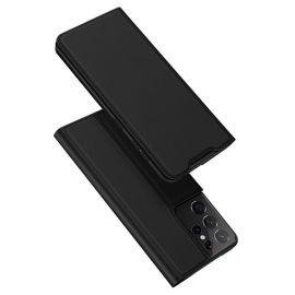 """Juodos spalvos atverčiamas dėklas Samsung Galaxy G998 S21 Ultra 5G """"Dux Ducis Skin Pro"""""""