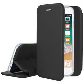 """Juodos spalvos atverčiams dėklas Apple iPhone 5 / 5S / 5SE """"Book Elegance"""""""