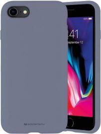 """Levandos pilkos spalvos dėklas Apple iPhone 7 / 8 / SE 2020 """"Mercury Silicone"""""""