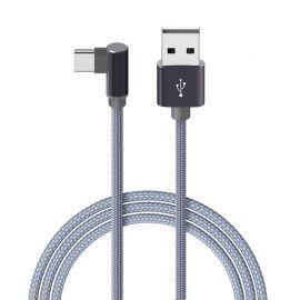 Metalinis pilkas USB kabelis Borofone BX26 Type-C 1.0m