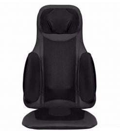 Pilka masažinė sėdynė F886 (kaklo, nugaros ir sėdmenų masažuoklis)