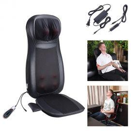 Pilka masažinė sėdynė F887B (kaklo, nugaros ir sėdmenų masažuoklis)