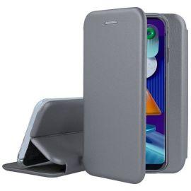 """Pilkos spalvos atverčiamas dėklas Samsung Galaxy M11 / A11 """"Book Elegance"""""""