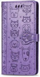 """Purpurinis dėklas Samsung Galaxy A217 A21s """"Cat-Dog"""""""