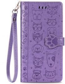 """Purpurinis dėklas Samsung Galaxy A41 A415 """"Cat-Dog"""""""