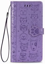 """Purpurinis dėklas Samsung Galaxy A515 A51 """"Cat-Dog"""""""