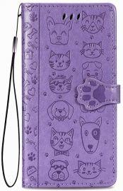 """Purpurinis dėklas Xiaomi Redmi 9 """"Cat-Dog"""""""