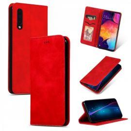 """Raudonas atverčiamas dėklas Samsung Galaxy A505 A50 / A507 A50s / A307 A30s """"Business Style"""""""