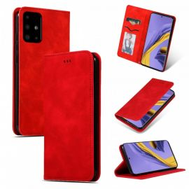 """Raudonas atverčiamas dėklas Samsung Galaxy A515 A51 """"Business Style"""""""