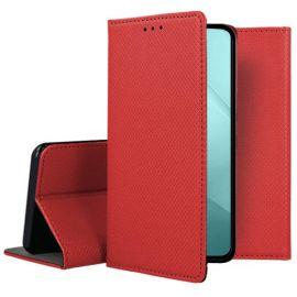 """Raudonas atverčiamas dėklas Xiaomi Redmi 10 Pro / Redmi Note 10 Pro Max """"Smart Magnet"""""""