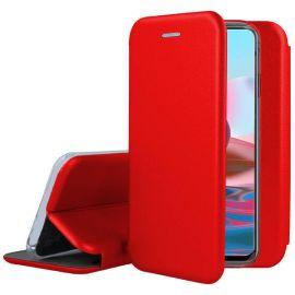 """Raudonas atverčiamas dėklas Xiaomi Redmi Note 10 / 10S """"Book Elegance"""""""