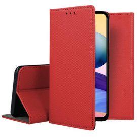 """Raudonas atverčiamas dėklas Xiaomi Redmi Note 10 5G """"Smart Magnet"""""""