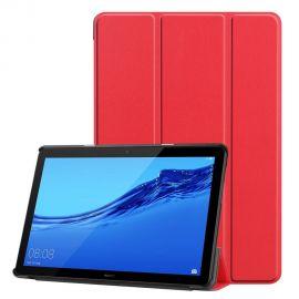 """Raudonas dėklas Huawei MediaPad T5 10.0 """"Smart Leather"""""""