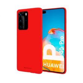 """Raudonas dėklas Huawei P40 Pro """"Mercury Soft"""""""