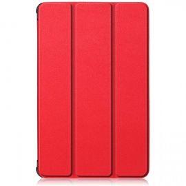 """Raudonas dėklas Samsung T590 / T595 Tab A 10.5 2018 """"Smart Leather"""""""