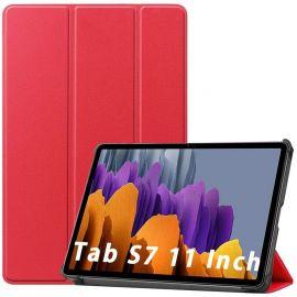 """Raudonas dėklas Samsung T870 / T875 Tab S7 11 """"Smart Leather"""""""