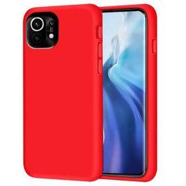 "Raudonas silikoninis dėklas Xiaomi Mi 11 Lite 4G / Mi 11 Lite 5G ""Silicon"""