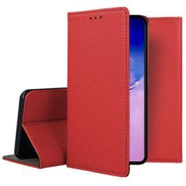 """Raudonos spalvos atverčiamas dėklas Samsung Galaxy S10 Lite / A91""""Smart Magnet"""""""