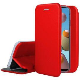 """Raudonos spalvos atverčiams dėklas Samsung Galaxy A31 """"Book Elegance"""""""