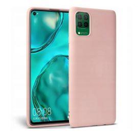 "Rausvas silikoninis dėklas Huawei P40 Lite ""Liquid Silicone"" 1.5mm"