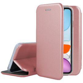 """Rožinės-auksinės spalvos atverčiamas dėklas Apple iPhone 11 """"Book Elegance"""""""